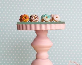 Colorful Donuts Studs Earrings / Dollhouse Minature / Miniature Food / Fake Food Jewelry / Cute Studs / Donut Jewelry / Food Stud Earrings