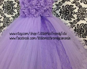 Lilac Flower Girl Tutu Dress, Lilac Tutu Dress, Flower Girl Dress Light Purple, Lavender Birthday Tutu Dress, Lilac Lavender tutu, Tutu