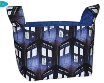 Desk Organizer | Bedroom Storage Bin | Storage Bin | Nursery Storage |  TARDIS Bin | Doctor Who Basket