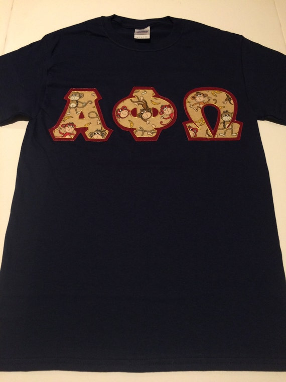 Custom greek letter shirt alpha phi omega by craftmesomeofthat for Custom greek letter t shirts