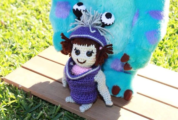 Amigurumi Monsters Inc : Items similar to crochet boo monsters inc - amigurumi on Etsy