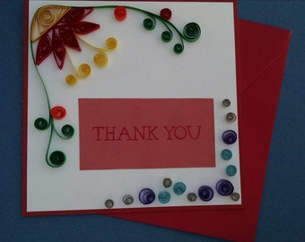 Hand Quilled Thank You card