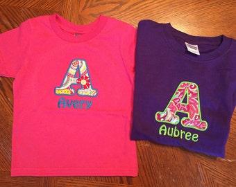 Infant/toddler applique tshirt