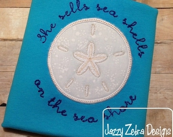 Sand Dollar Appliqué embroidery Design - beach Appliqué Design - sand dollar Appliqué Design - summer Applique Design