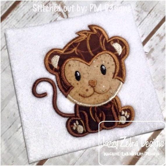 Monkey 53 Appliqué embroidery Design - zoo Applique Design - baby Appliqué Design - monkey Applique Design - jungle Applique Design