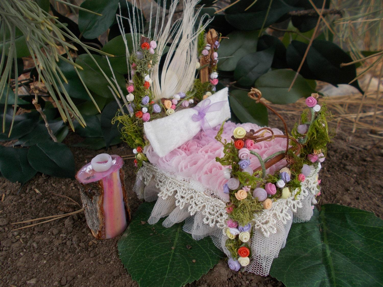 Rose Garden Fairy Bedroom Set Nightstand Bench Table Set