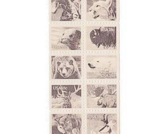 10 Unused Vintage Postage Stamps - 1981 18c Wildlife of America - Item No. 1889a