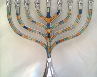 Mosaic Traditional Menorah