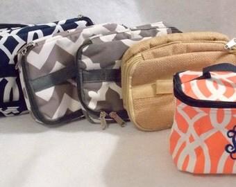 Bridesmaid Gift Monogrammed Makeup Bag  Personalized Makeup Bag  Bridesmaids Gifts