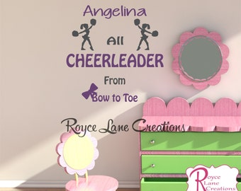 Cheerleader Wall Decal N17 for Toddler Teen Girls Room Teen Girl Toddler Girl Bedroom Teen Room Decor Cheerleader Art for Girls Bedroom