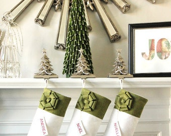 Personalized Christmas Stockings, Unique Christmas Gifts Ideas, Personalized gifts, Elegant Christmas Stockings, Classic and Beautiful!