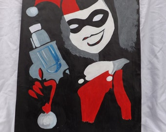 A3 Harley Quinn Painting ORIGINAL