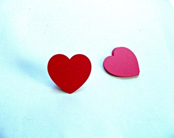 Heart Die Cut, Large paper embellishment, pick a color, 12 / 25 / 50 count, 2.375 in. simple classic heart shape for Valentines/ DIY crafts