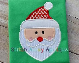 Mod Santa Claus Christmas Machine Applique Design