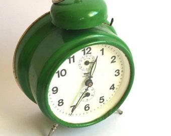 Mid century alarm clock green- Insa- Made in Yugoslavia