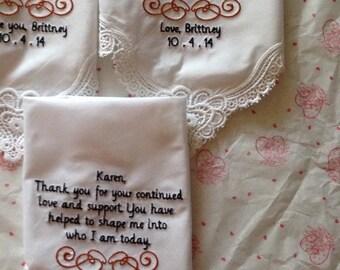 Set of 3 laced hankies