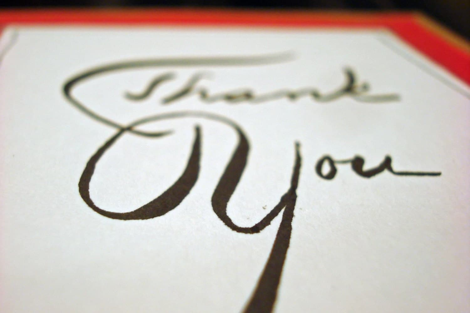 Calligraphy Thank You Cards By Thegypsyguild On Etsy