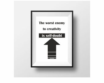 Sylvia Plath motivational minimal poster typography print black and white wall decor (from US Letter and A4 up to A0 size)