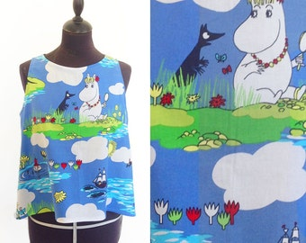 Moomin top - Moomins Shirt - Moomin crop top - TV show clothes - moomintroll  - cartoon fashion old tv show - Women blouse - Unique top