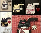 CUSTOM CAT Ornament and/or Magnet Hand Painted