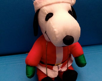 Free Shipping:  Vintage Snoopy as Santa Christmas Doll