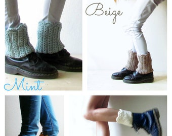 Boot cuff / woman boot sock cuff / off-white boot cuffs / Rustic clothing / Legwarmer boot cuff / CHOOSE YOUR COLOR