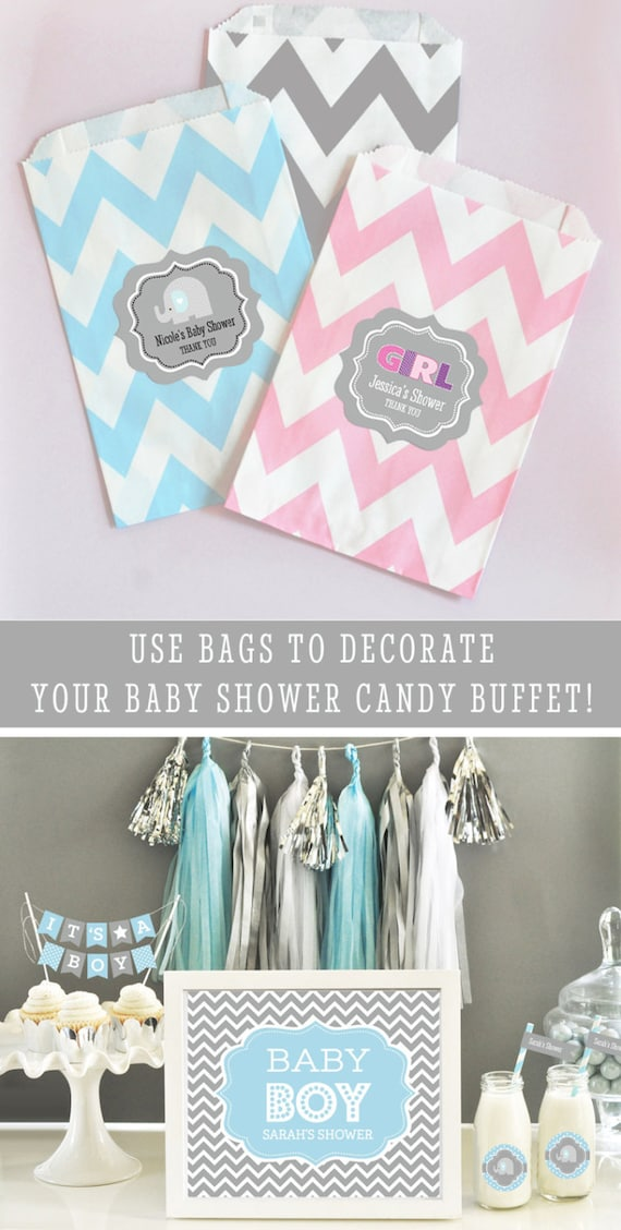 Items Similar To Baby Shower Candy Buffet Bags Baby Shower Goodie Bags Baby  Shower Favor Bags U0026 Ideas PERSONALIZED Baby Shower Bags 2| (EB2358BYZ) Set  Of 24 ...