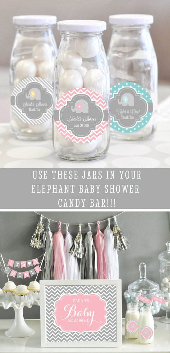 Items Similar To Pink Elephant Baby Shower Favors
