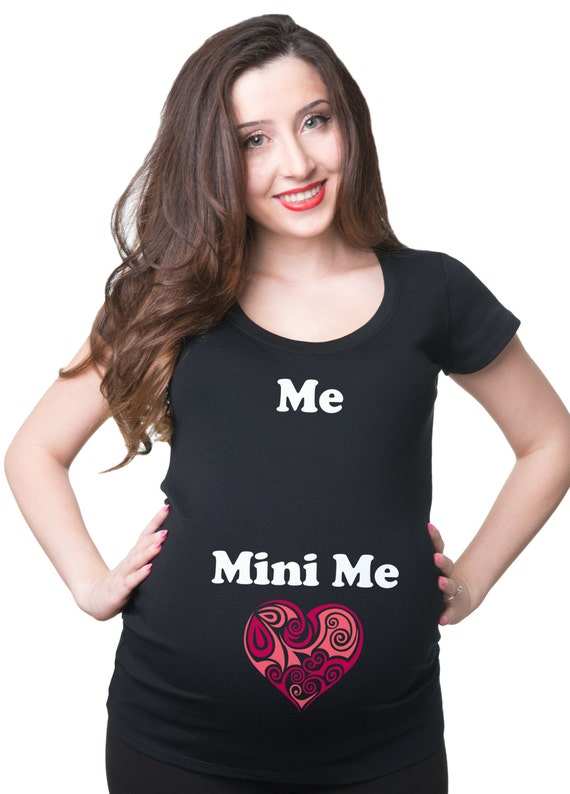 pregnancy t shirt me mini me t shirt funny maternity shirt. Black Bedroom Furniture Sets. Home Design Ideas