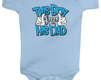 This Boy Loves His Dad Baby Boys' Infant Bodysuit