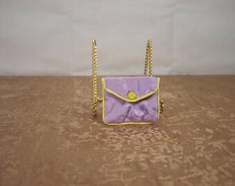 Travel pocket,jewelry, lavender, silk