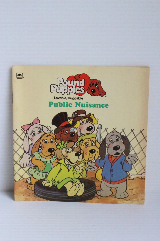 POUND PUPPIES BOOK 1987 Vintage Book Public Nuisance Pound