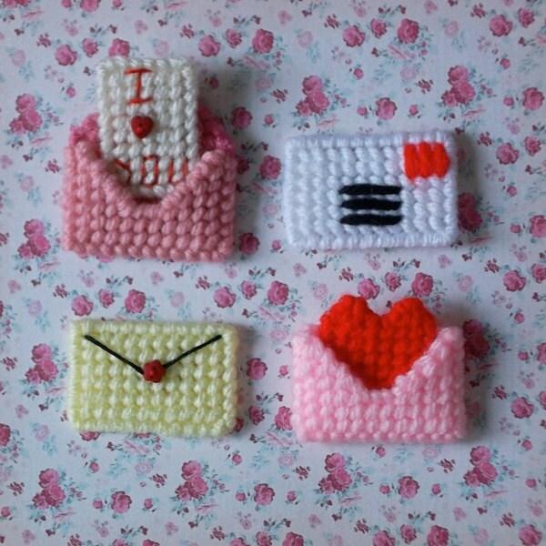 Plastic Canvas: Mini Love Letter Magnets Set By