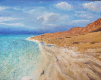 "Oceanview ""The Dead Sea Israel"" Painting"
