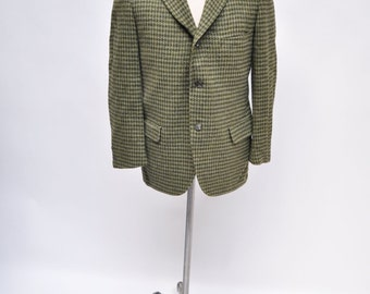 ABERCROMBIE & FITCH vintage tweed 3 butotn blazer sports coat suit jacket sport designer ivy league