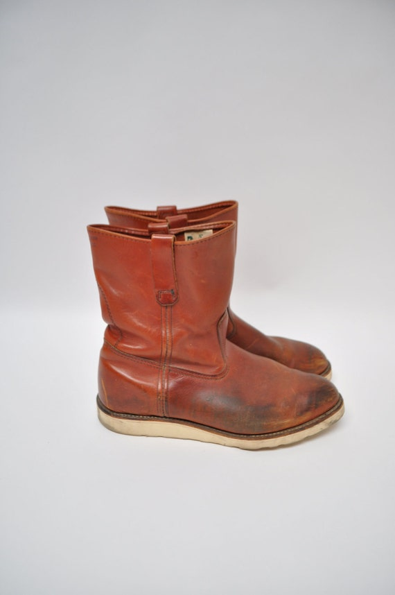 RED WING vintage IRISH setter work wear boots red by ...