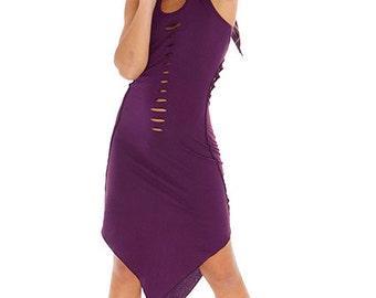 PURPLE PIXIE DRESS, psy trance dress, pixie dress, pixie clothing, pixie hood, psy clothing, psy dress, psy trance clothing xl plus size