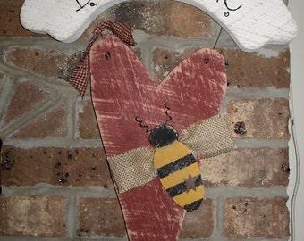 Valentine's day, heart, be mine, wall hanger, door greeter