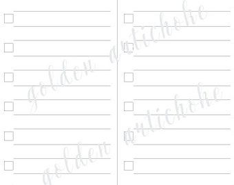INSTANT DOWNLOAD to do list