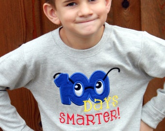 Boy's 100 Days Smarter Shirt - 100 Days of School Shirt