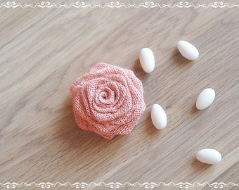 Burlap Roses -  Burlap Flowers - Dusty Pink Burlap Flowers - Set of 20 - Table Decoration - Wedding Decoration