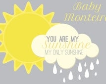 Baby Shower Backdrop- You Are My Sunshine (choose your banner size)