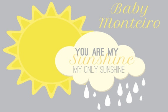 you are my sunshine baby shower backdrop choose your banner size