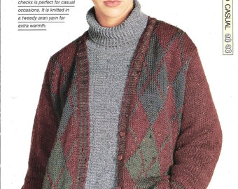 """Knitting pattern - Woman's """"College Sport"""" cardigan - Instant download"""