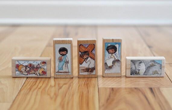 Easter Blocks starter set - 5 block toys for Lent and Easter