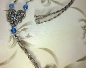 Silver and Light Blue Necklace