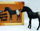 Breyer Animal Creations Stock Horse Foal Traditional Rough Coat Appaloosa Black Spotted Blanket 1979 Original Box Model No. 18 Free Shipping