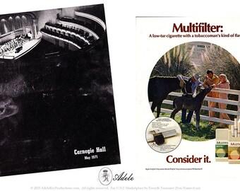 Vintage CARNEGIE HALL Magazine, May 1971 - RARE!!!