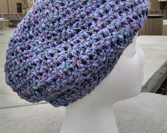 Hand-Crocheted, Spring Beret