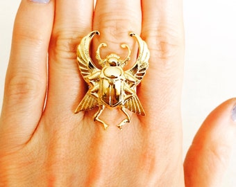 Scarab ring Gold scarab ring Scarab jewelry Egyptian scarab Scarab beetle Egyptian ring gold beetle ring bug ring bug jewelry
